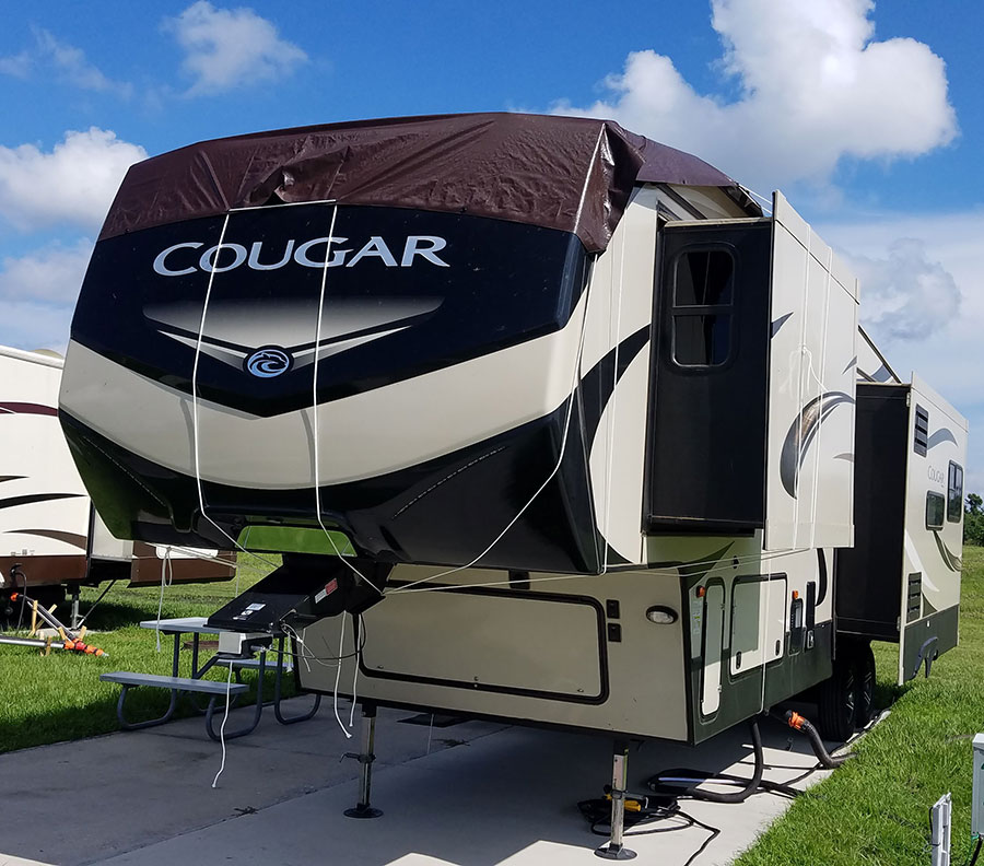 2018 Keystone Cougar roof failure - tarped